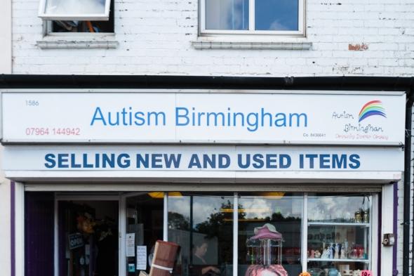 Autism charity shop by Birmingham photographer Barry Robinson