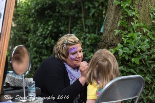 Face painting by Birmingham photographer Barry Robinson