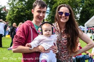 Festival proof baby by Birmingham photographer Barry Robinson